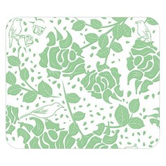 Floral Wallpaper Green Double Sided Flano Blanket (Small)