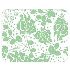 Floral Wallpaper Green Double Sided Flano Blanket (Medium)