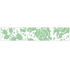 Floral Wallpaper Green Flano Scarf (Large)