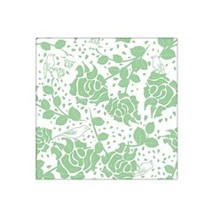 Floral Wallpaper Green Satin Bandana Scarf