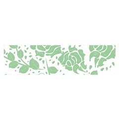 Floral Wallpaper Green Satin Scarf (Oblong)