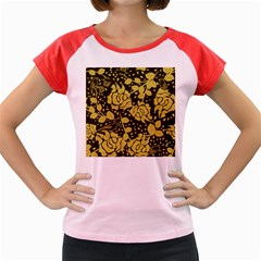 Floral Wallpaper Forest Women s Cap Sleeve T Shirt