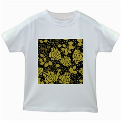 Floral Wallpaper Forest Kids White T Shirts