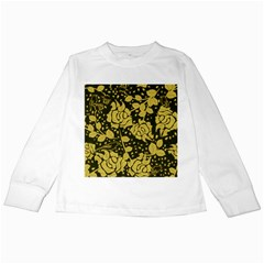 Floral Wallpaper Forest Kids Long Sleeve T-Shirts