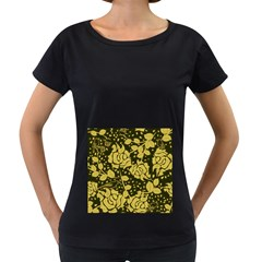 Floral Wallpaper Forest Women s Loose Fit T Shirt (black)