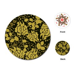 Floral Wallpaper Forest Playing Cards (round)