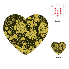 Floral Wallpaper Forest Playing Cards (Heart)