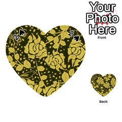 Floral Wallpaper Forest Playing Cards 54 (Heart)