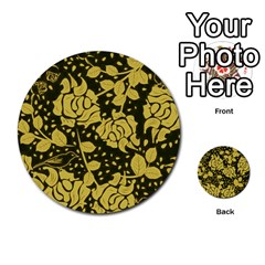 Floral Wallpaper Forest Multi-purpose Cards (Round)