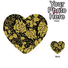 Floral Wallpaper Forest Multi-purpose Cards (Heart)