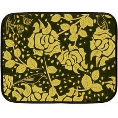 Floral Wallpaper Forest Fleece Blanket (Mini)