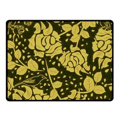 Floral Wallpaper Forest Fleece Blanket (small)