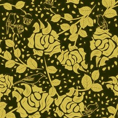 Floral Wallpaper Forest Magic Photo Cubes