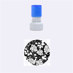 Floral Wallpaper Forest Rubber Round Stamps (small)