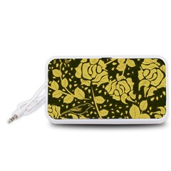 Floral Wallpaper Forest Portable Speaker (White)