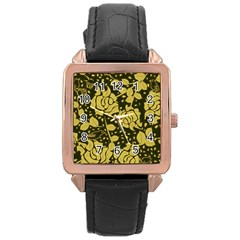 Floral Wallpaper Forest Rose Gold Watches