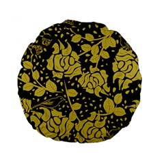 Floral Wallpaper Forest Standard 15  Premium Flano Round Cushions