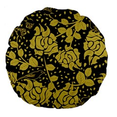 Floral Wallpaper Forest Large 18  Premium Flano Round Cushions