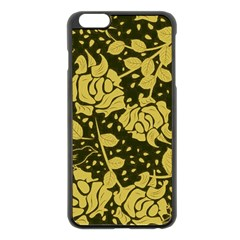 Floral Wallpaper Forest Apple Iphone 6 Plus Black Enamel Case