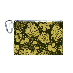 Floral Wallpaper Forest Canvas Cosmetic Bag (M)