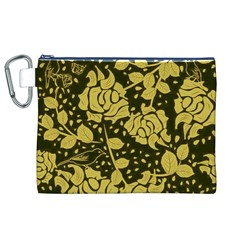 Floral Wallpaper Forest Canvas Cosmetic Bag (XL)