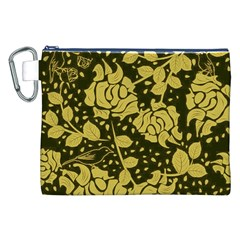Floral Wallpaper Forest Canvas Cosmetic Bag (XXL)