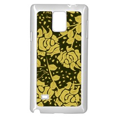 Floral Wallpaper Forest Samsung Galaxy Note 4 Case (White)