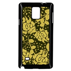 Floral Wallpaper Forest Samsung Galaxy Note 4 Case (Black)