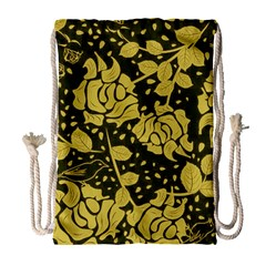 Floral Wallpaper Forest Drawstring Bag (Large)