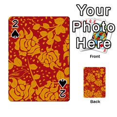 Floral Wallpaper Hot Red Playing Cards 54 Designs