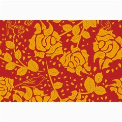 Floral Wallpaper Hot Red Collage 12  X 18