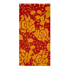 Floral Wallpaper Hot Red Shower Curtain 36  x 72  (Stall)
