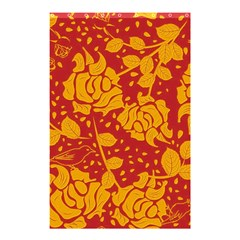 Floral Wallpaper Hot Red Shower Curtain 48  x 72  (Small)