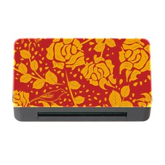 Floral Wallpaper Hot Red Memory Card Reader with CF