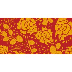 Floral Wallpaper Hot Red YOU ARE INVITED 3D Greeting Card (8x4)
