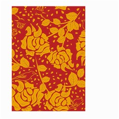 Floral Wallpaper Hot Red Large Garden Flag (Two Sides)