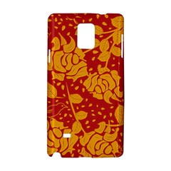 Floral Wallpaper Hot Red Samsung Galaxy Note 4 Hardshell Case