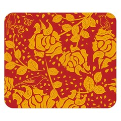 Floral Wallpaper Hot Red Double Sided Flano Blanket (Small)