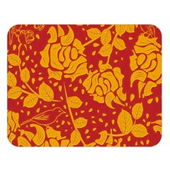 Floral Wallpaper Hot Red Double Sided Flano Blanket (large)