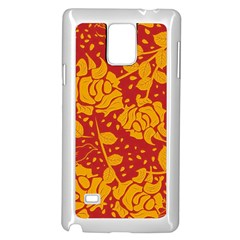 Floral Wallpaper Hot Red Samsung Galaxy Note 4 Case (white)