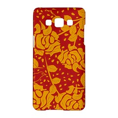 Floral Wallpaper Hot Red Samsung Galaxy A5 Hardshell Case