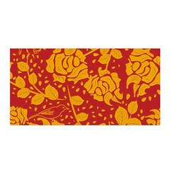 Floral Wallpaper Hot Red Satin Wrap