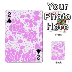 Floral Wallpaper Pink Playing Cards 54 Designs