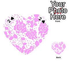 Floral Wallpaper Pink Playing Cards 54 (heart)