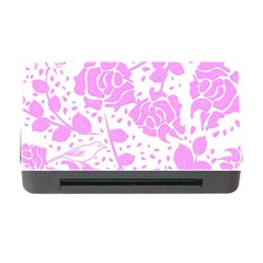 Floral Wallpaper Pink Memory Card Reader With Cf
