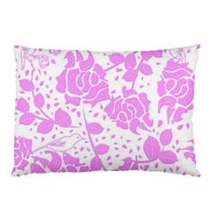 Floral Wallpaper Pink Pillow Cases (Two Sides)