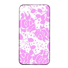 Floral Wallpaper Pink Apple iPhone 4/4s Seamless Case (Black)