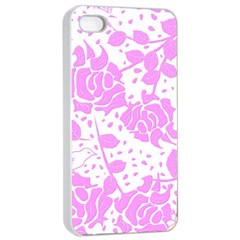 Floral Wallpaper Pink Apple iPhone 4/4s Seamless Case (White)