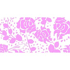 Floral Wallpaper Pink YOU ARE INVITED 3D Greeting Card (8x4)