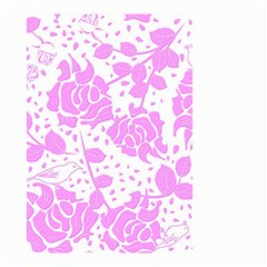 Floral Wallpaper Pink Small Garden Flag (Two Sides)